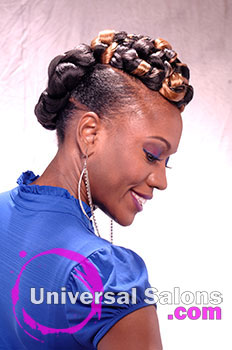 Twisted Elegance Natural Updo From Felicia Maine