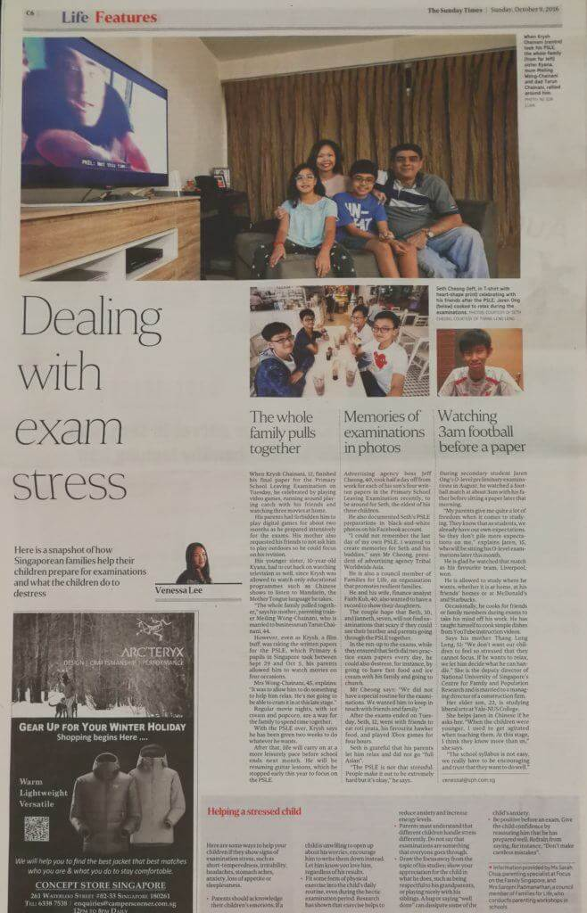 PSLE Dealing with Exam Stress