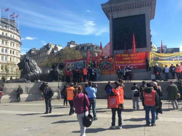 May Day rally in Trafalgar Square