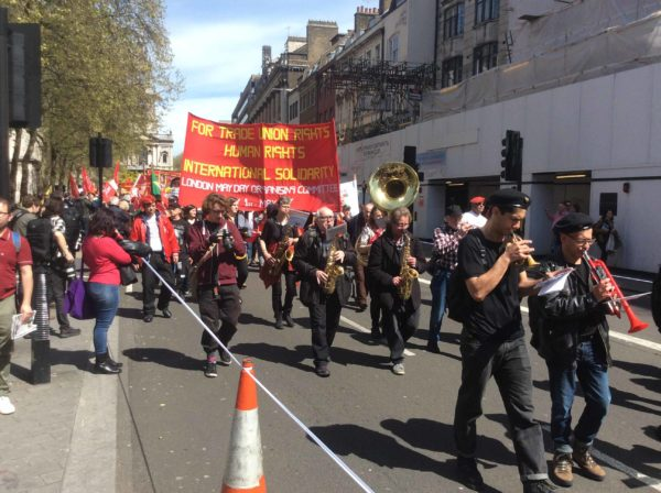 May Day march in the Strand