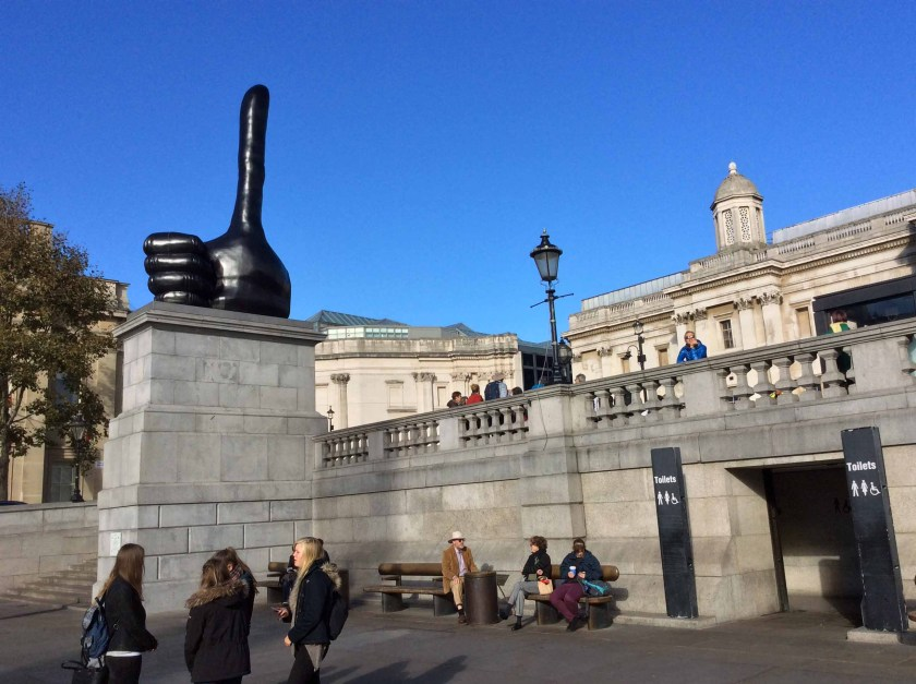 Sculpture on Fourth Plinth in Trafalgar Square