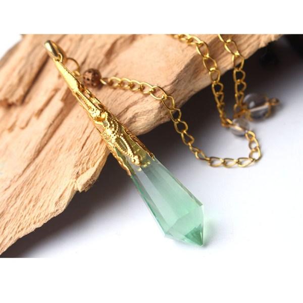 Magnifique Pendule Fluorite/Fluorine verte