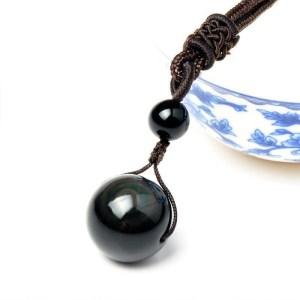 Collier avec pendentif en Obsidienne Œil Céleste