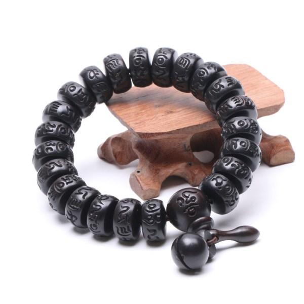 Bracelet de Méditation pour Hommes sculpté à la main - Univers ésotérique