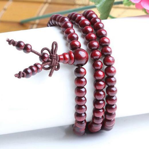 Bracelet de Méditation Bouddhiste rouge - Univers ésotérique