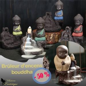 Brûleur d'encens bouddha à refoulement Promo Univers ésotérique