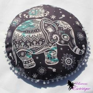Housse de coussin indienne éléphant - Univers ésotérique