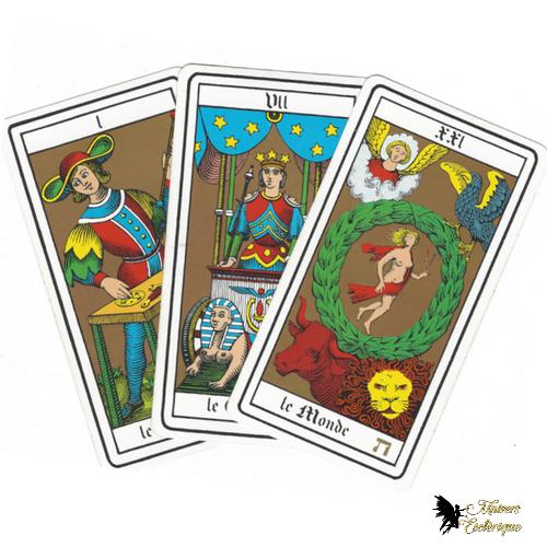 Tirage 3 Cartes Tarot Oswald Wirth, voyance pas chère, voyance fiable