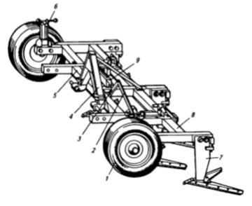 Широкозахватный культиватор-плоскорез