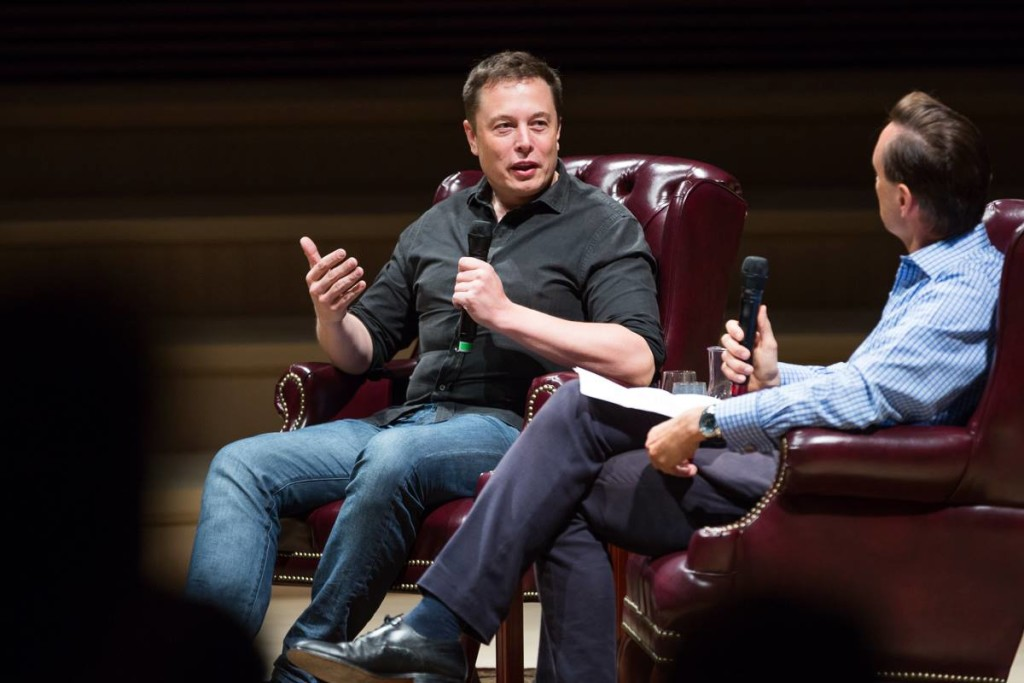 STVP Future Fest 2015 with guest Elon Musk at Stanford University.