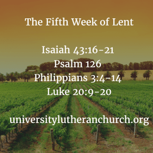 Fifth Week of Lent C