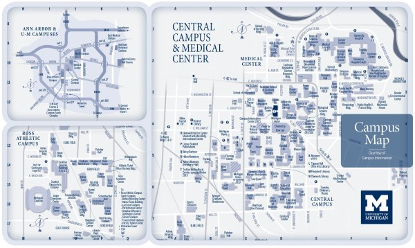 CAMPUS MAPS University of Michigan Online Visitor39s Guide