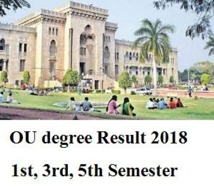 ou degree 1st 3rd 5th sem result 2018