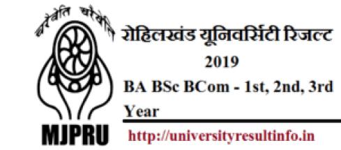 mjpru ba result,mjpru bsc result,mjpru bcom result 2019