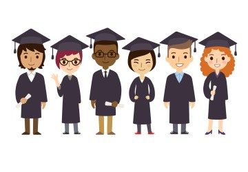 students college graduation university cartoon graduates student diverse background cute simple graduate flat illustrations degree grads clipart diplomas mistakes common