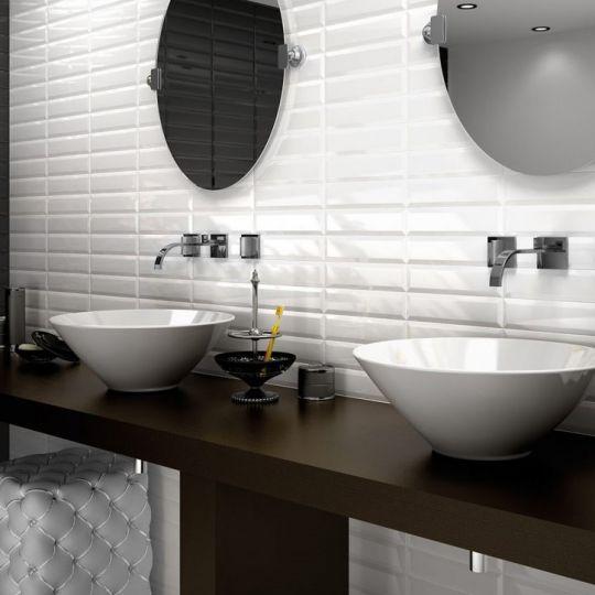 carreau metro 7 5x30 white blanc brillant