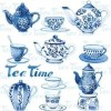 "GUARDANAPO ""TEA MOMENTS BLUE""-33X33CM"