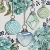 """GUARDANAPO """"HANGING BAUBLES GREEN""""-33X33CM"""