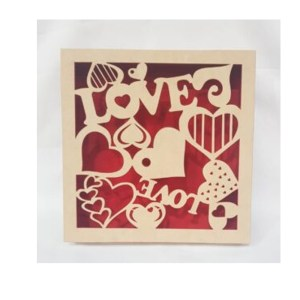 FLOCADO CX TAMPA SAPATO LOVE-30X30X5CM