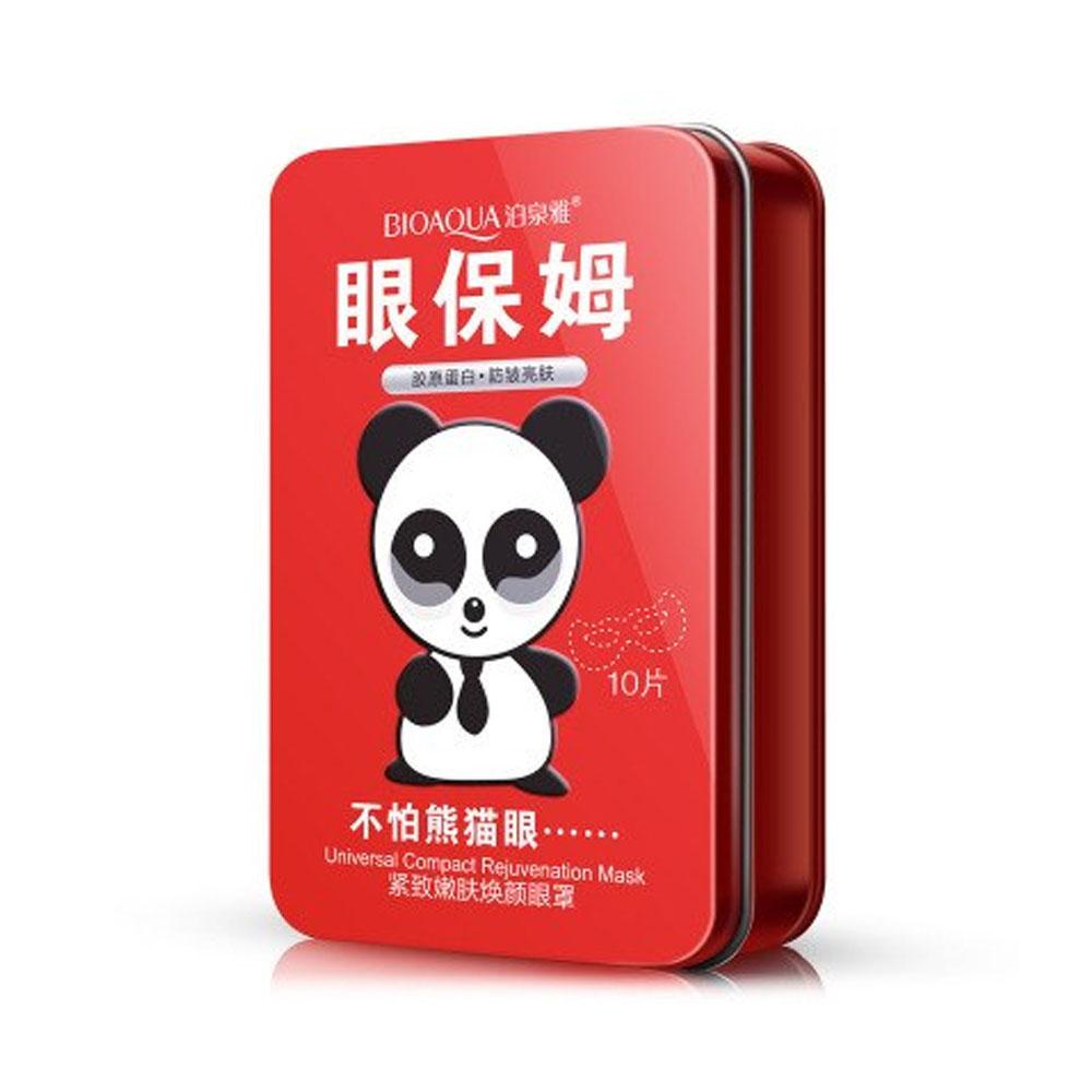 Bioaqua Panda 10 Sobres Con Parches Anti-Ojeras Hidrata Piel Seca Rejuvenece