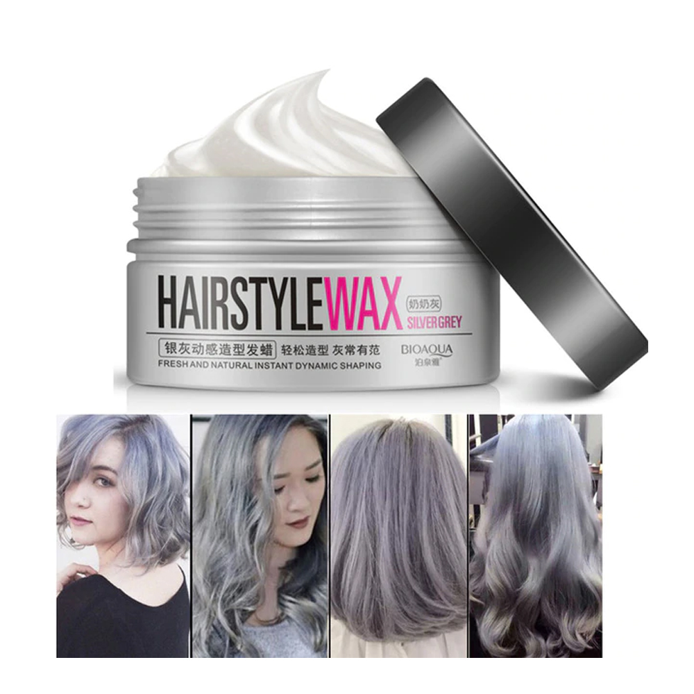Hairstyle Wax Silver Plata Gris Bioaqua Cera