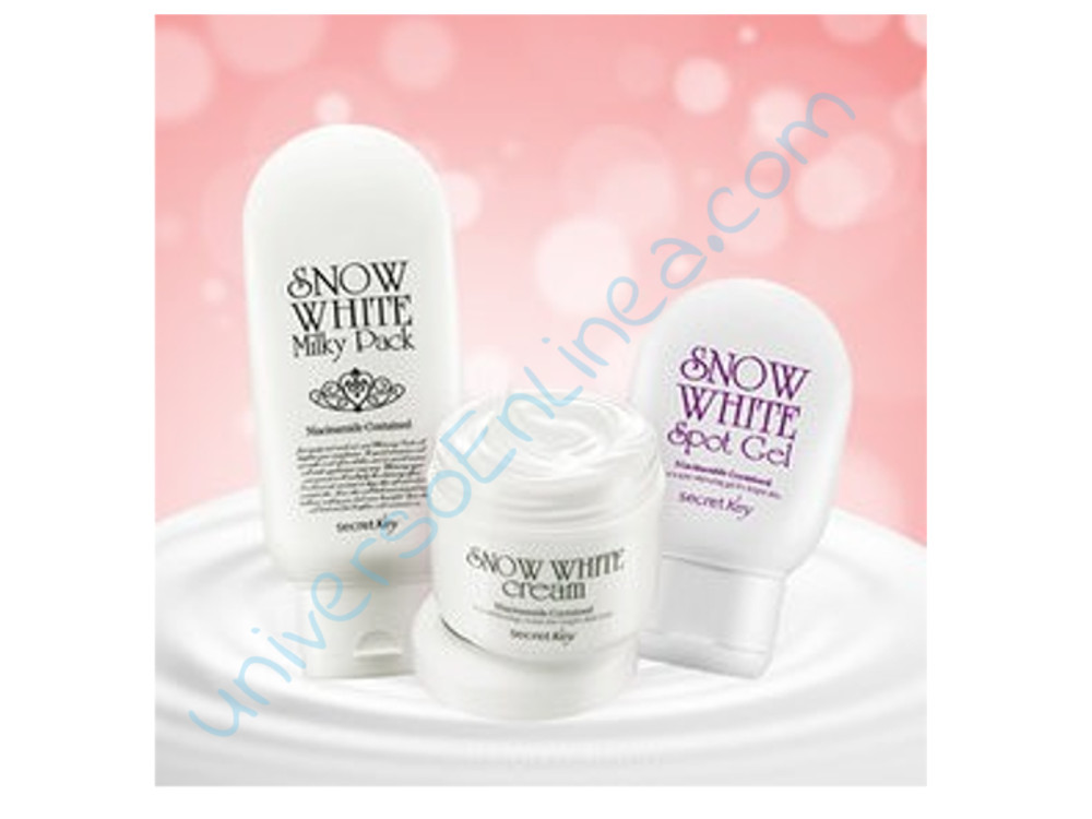 Set Snow White Milky Pack + Cream + Gel Aclarante Secret Key Original