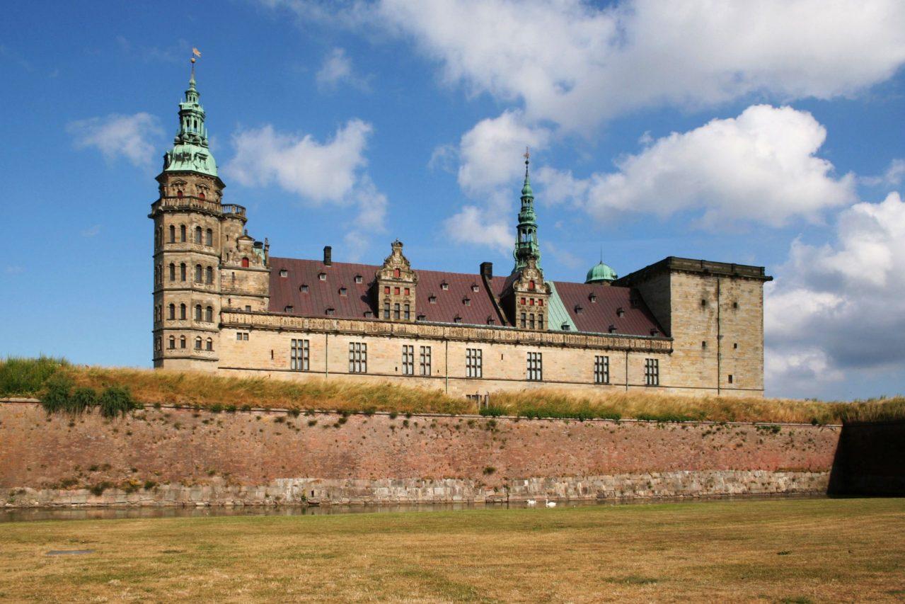 Castillo Kronborg en Helsingor. Shakespeare, Hamlet, ser o no ser