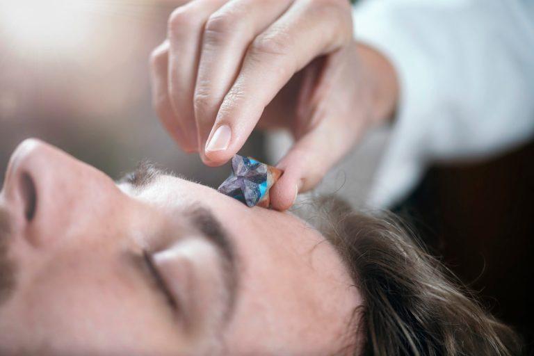 Merkaba Healing Star Crystal Close Up
