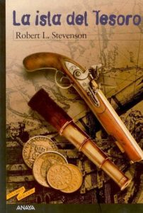 Portada de La isla del tesoro, en la edición de Anaya