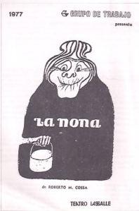 "Portada de ""La nona"" de Roberto Cossa"