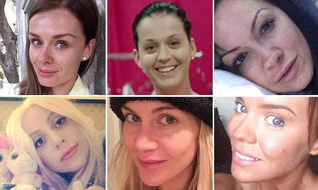 star partecipano no selfie make up