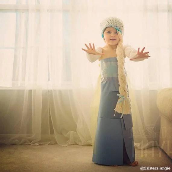 vestito lungo carta blu bimba