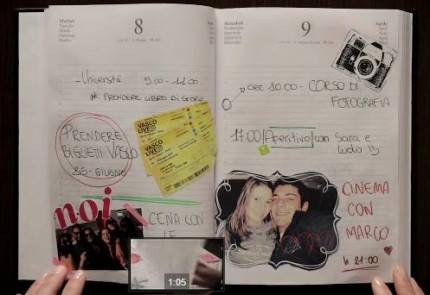 pagine di un diario di una ragazza