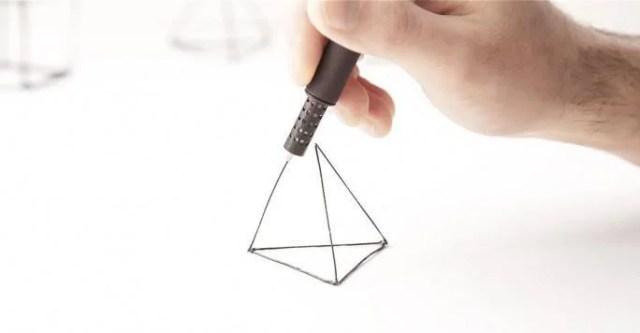 penna in 3d figura geometrica