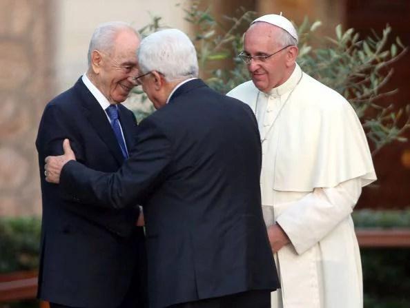 Abu Mazen, Simon Peres e Papa Francesco