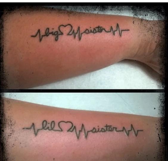 scritta su braccia sorelle
