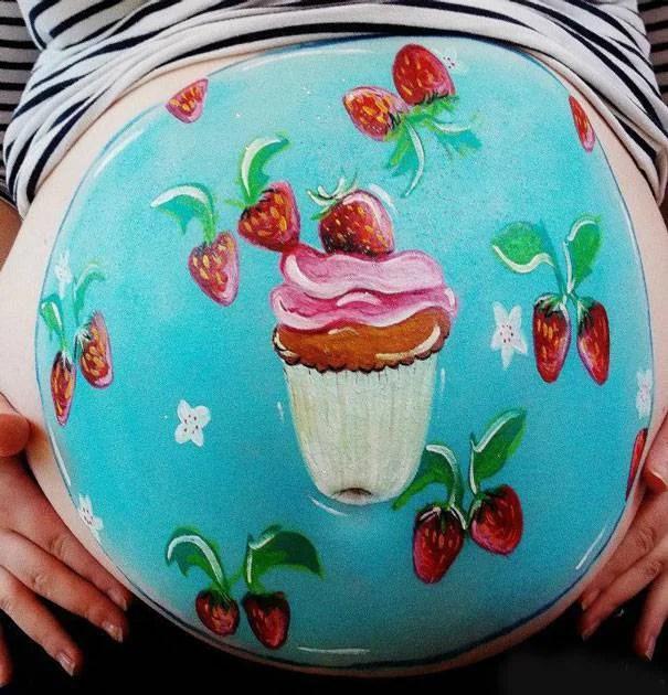 pancione con cupcake