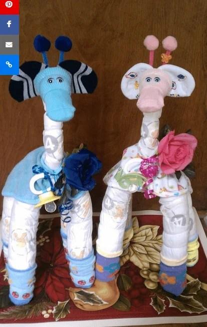 giraffe di pannolini