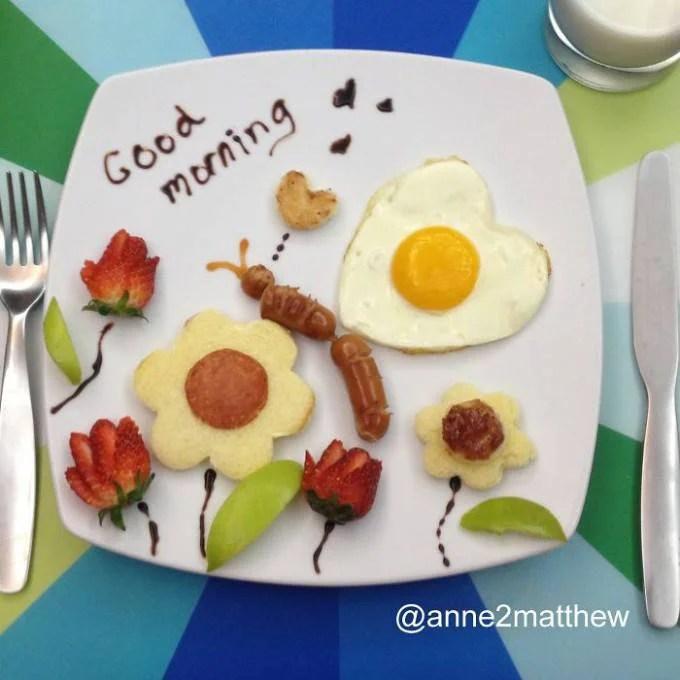composizione di uova su piatto