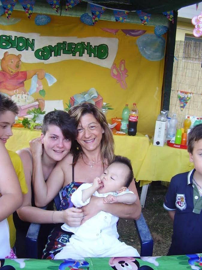 Nadia, Mario e Alessia la figlia grande