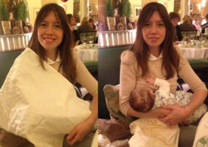 mamma che allatta con e senza copertura