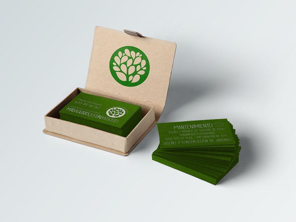 Diseño de tarjetas para mas a gusto que un arbusto