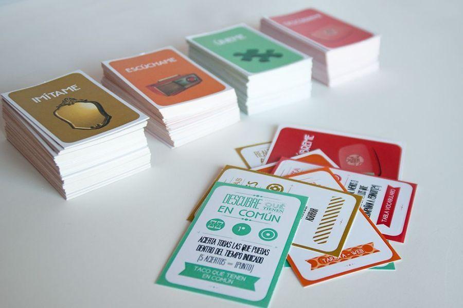cartas categorías juego reconocer