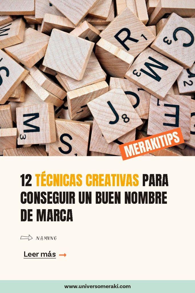 12 técnicas creativas para conseguir un buen nombre de marca