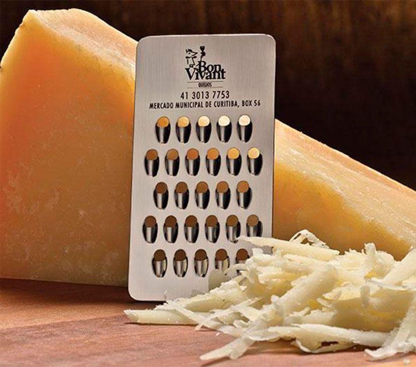 tarjeta rallador de queso