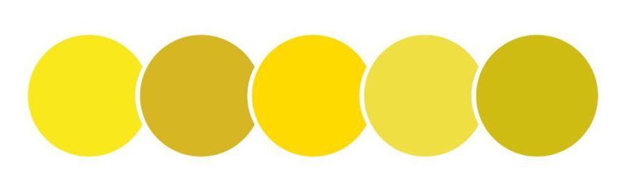 color amarillo, círculos