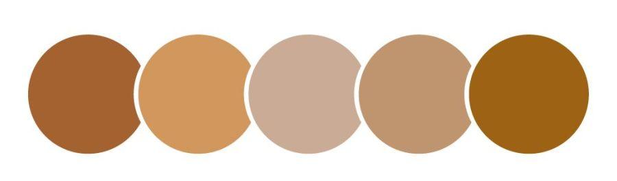 color marrón, círculos
