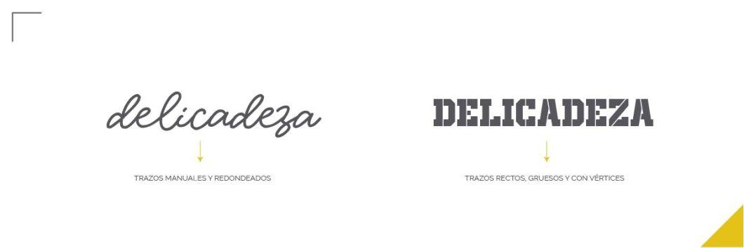 Errores tipográficos, letra delicada