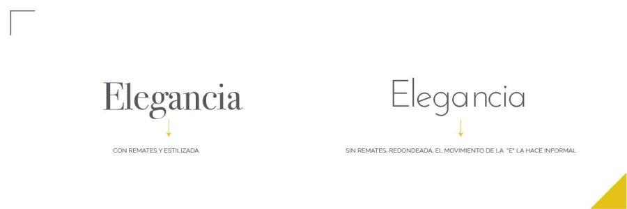 Errores tipográficos, letra elegante