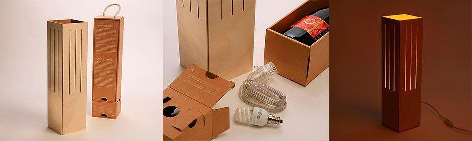 Cavallum, caja de vino-lámpara